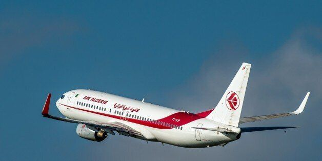 An 737 800 Boeing plane of the Air Algerie company takes off, on October 11, 2014 at the Lille-Lesquin...