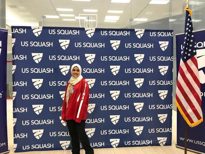 Fatima Abdelrahman is a 13-year-old U.S. national squash team player.