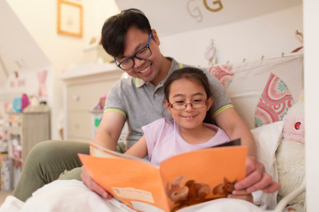 Reading books together can help kids practice the skills needed for