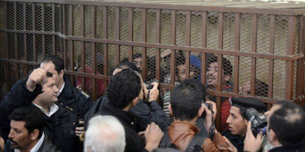 Janvier 2015, proces au Caire de 26 hommes accusés