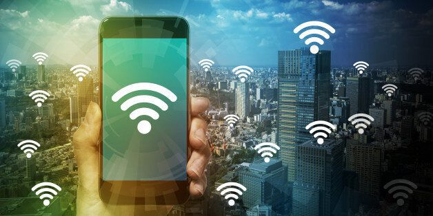 smart phone and wireless communication, internet of things, abstract image
