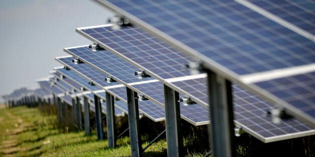 Embargoed to 0800 Wednesday October 4 File photo dated 04/09/13 of solar panels at a solar farm. The...