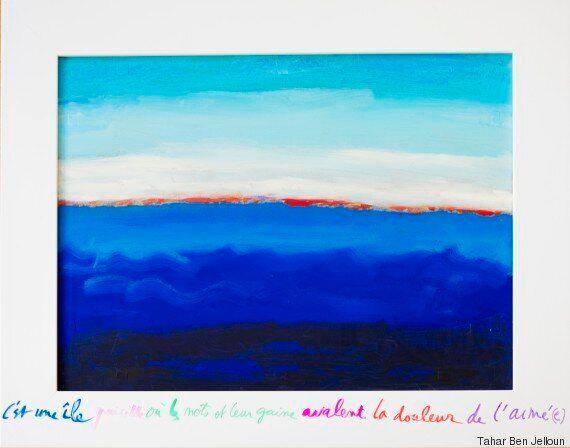 Tahar Ben Jelloun retrouve ses pinceaux pour sa nouvelle exposition à l'Institut du monde arabe