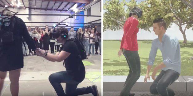 La demande en mariage du futur: Quand la réalité virtuelle est au service de