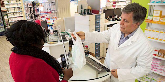 Pharmacy Interior. (Photo by: MediaForMedical/UIG via Getty