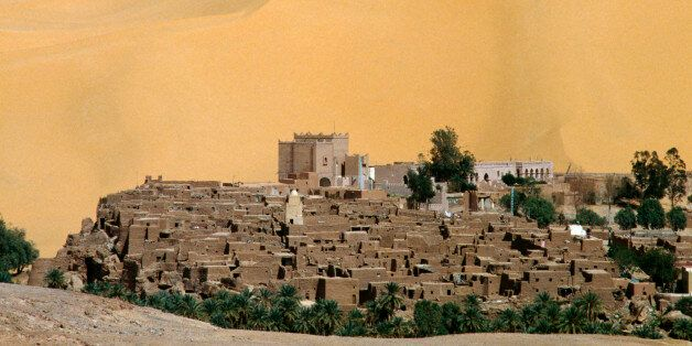 View of the ksar overlooking the Oasis of Taghit. Algeria, 11th