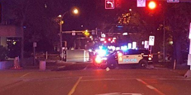 À Edmonton au Canada, des policiers et piétons renversés, les autorités parlent d'