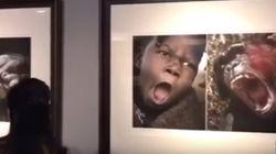 Des photos de singes accolées à des Africains dans une exposition chinoise
