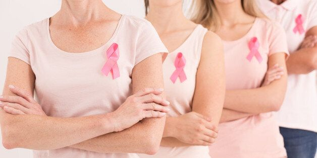 Group of women united against breast