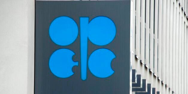 The Organization of the Petroleum Exporting Countries (OPEC) logo is pictured at OPEC's headquarters...