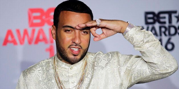Rapper French Montana poses backstage at the 2016 BET Awards in Los Angeles, California U.S. June 26,...