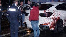 La police n'a rien pu faire contre ce jet de sang car