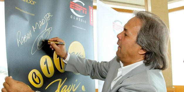 MONACO - OCTOBER 09: Rabah Madjer attend the Golden Foot awards previews on October 9, 2011 in Monaco,...