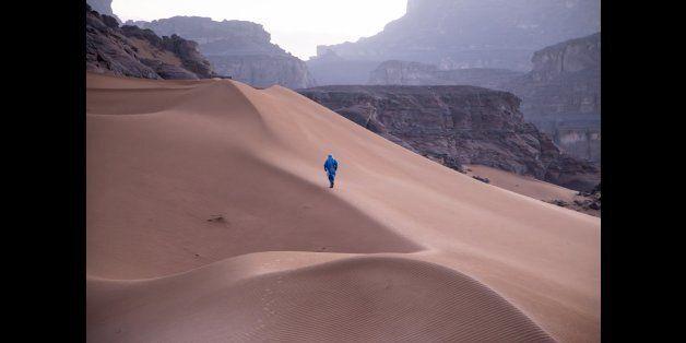 The Algerian Sahara near the borders with Libya and