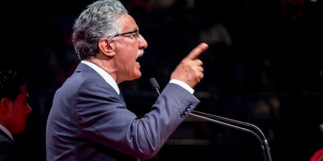 In November 16th, 2014: big political meeting of the Front Popular, with its president Hamma Hammami,...