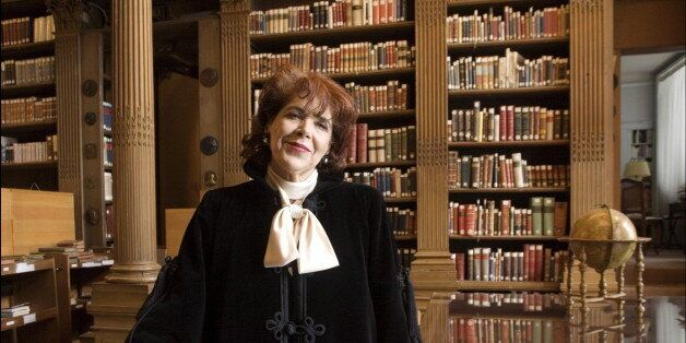 FRANCE - JUNE 22: Algerian writer Assia Djebar received at the French Academy in Paris, France on June...