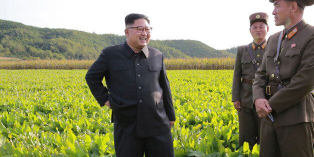 This undated picture released from North Korea's official Korean Central News Agency (KCNA) on September...