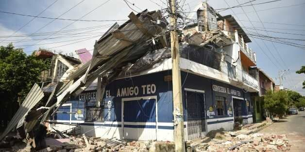 View of damages following the 8.2 magnitude earthquake that hit Mexico's Pacific coast, in Juchitan de...