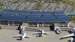 Une centrale photovoltaïque sur la toiture de l'aéroport