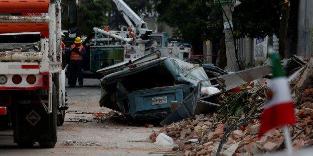 Mexico City après le passage du séisme, 8 septembre