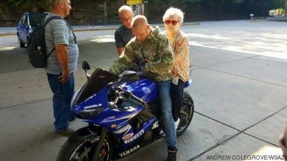 Un motard réalise l'un des derniers rêves d'une femme