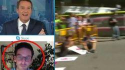 En plein direct, ce journaliste français a dû calmer les pleurs de son