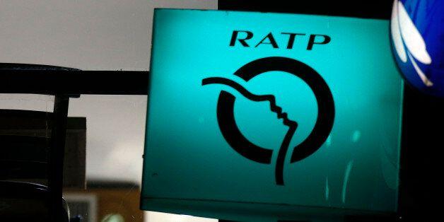 The logo of the RATP (Regie Autonome des Transports Parisiens) is seen in Paris, France, March 3, 2016....