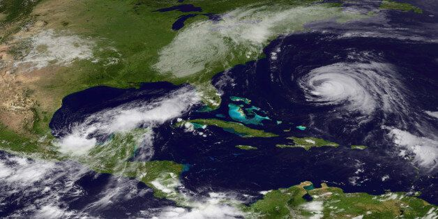 IN SPACE - SEPTEMBER 7: In this satellite handout from NOAA, the remnants of Tropical Storm Lee are seen...