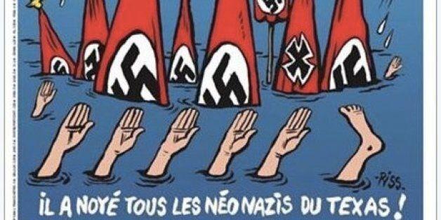 La Une de Charlie Hebdo sur les sinistrés d'Harvey au Texas passe mal aux