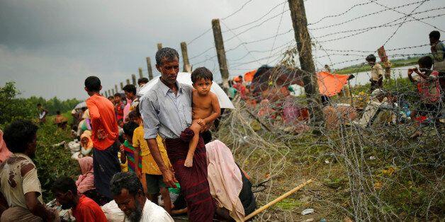 Des réfugiés rohingyas à la frontière birmane, 7 septembre