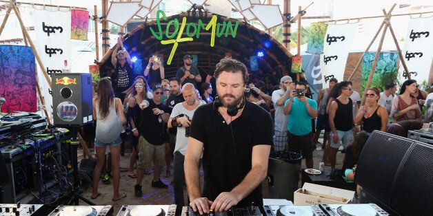 PLAYA DEL CARMEN, MEXICO - JANUARY 17: DJ Solomun performs during the BPM 2016 at Martina Beach Club...