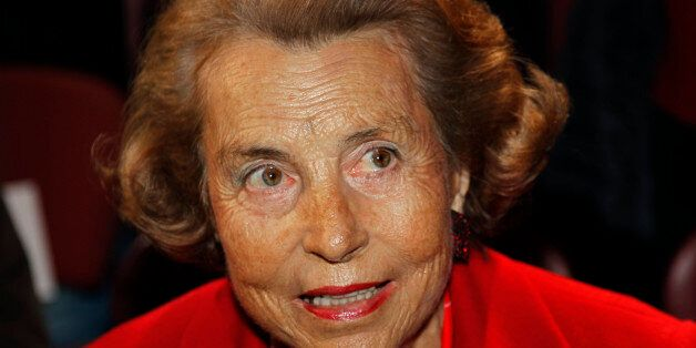 Liliane Bettencourt, heiress to the L'Oreal fortune, attends French designer Franck Sorbier's Haute Couture...