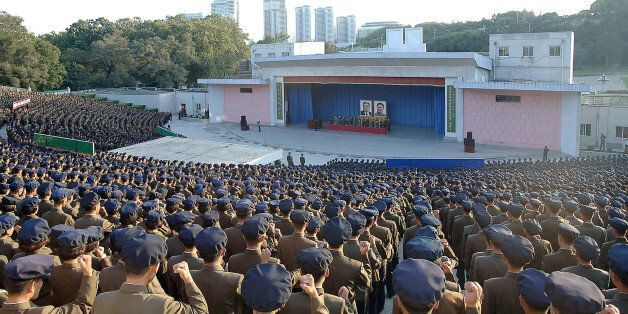 This picture taken on September 23, 2017 and released from North Korea's official Korean Central News...