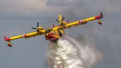 Le Maroc envoie deux avions Canadair pour aider à combattre des incendies en