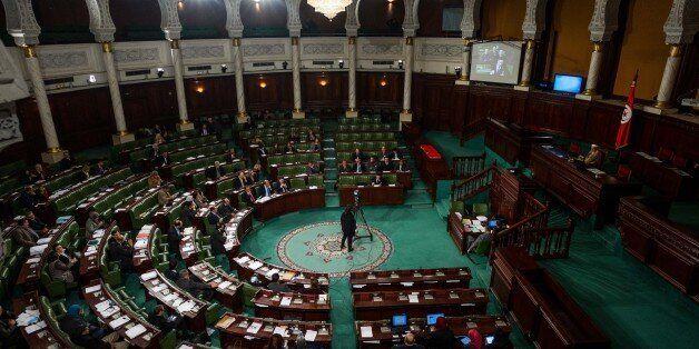 TUNIS, TUNISIA - JANUARY 24: Investment and Development Minister of Tunisia Fadel Abdul-Kafi delivers...