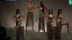 Au défilé Versace de Milan, des top models des années 90 enflamment le
