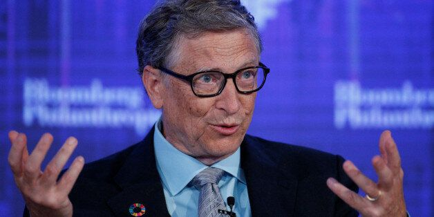 Microsoft co-founder Bill Gates, speaks at the Bloomberg Global Business Forum in New York City, U.S.,...