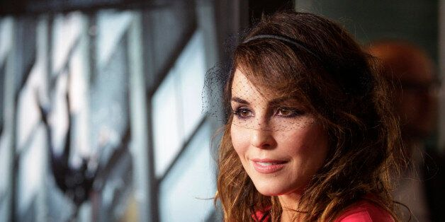 Swedish actress Noomi Rapace poses at the premiere of her new