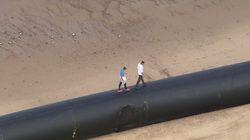 Destinés à l'Algérie, des pipes géants échouent sur les côtes
