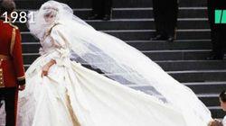 La vie de Lady Di à travers quatre de ses tenues