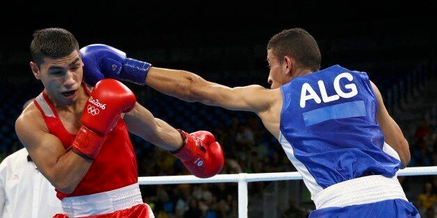 2016 Rio Olympics - Boxing - Preliminary - Men's Fly (52kg) Round of 16 Bout 207 - Riocentro - Pavilion...