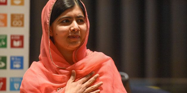 Malala Yousafzai attends a ceremony after being selected a United Nations messenger of peace in New York,...