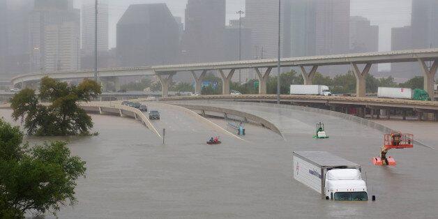 Les inondations à Houston, Texas, après l'ouragan Harvey, le 27 août