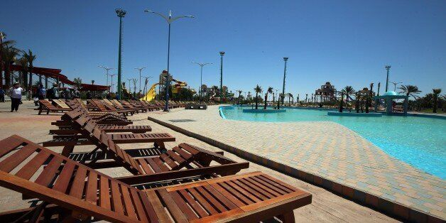 Big tourist project in Biskra, Algeria, on 4 July 2017. at the height of its beauty. Realized over an...