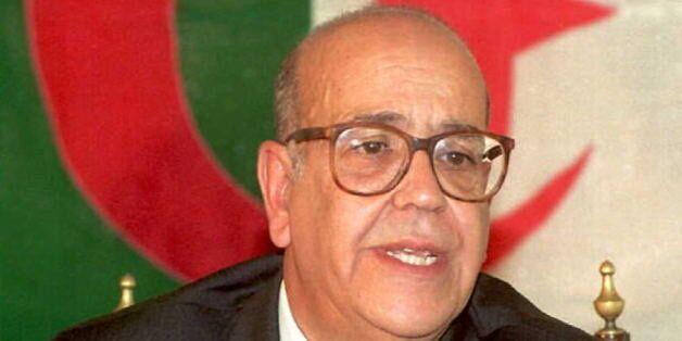 ALGIERS, ALGERIA - AUGUST 26: Former Prime Minister Reda Malek of Algeria announces his candidacy for...