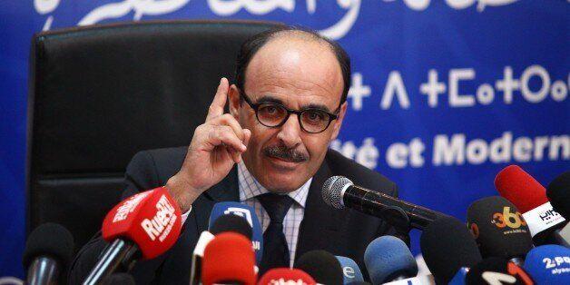 Ilyas El Omari s'explique à propos de sa démission lors d'une conférence de presse tenue le 8