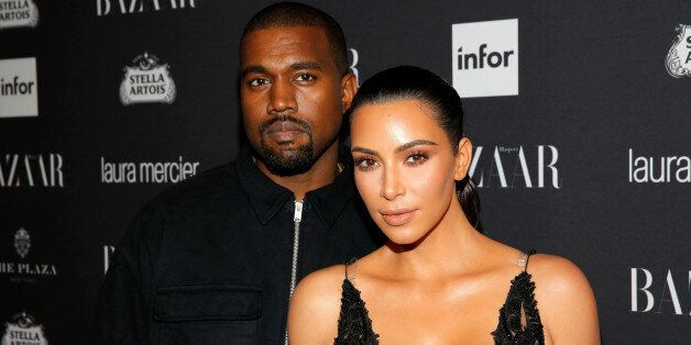Kanye West and Kim Kardashian attend Harper's Bazaar's celebration of 'ICONS By Carine Roitfeld' at The...