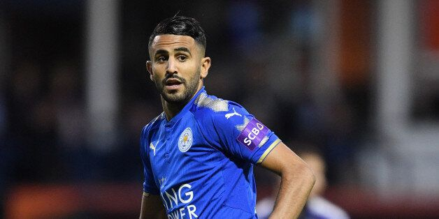 LUTON, ENGLAND - JULY 26: Riyad Mahrez of Leicester in action during the pre-season friendly match between...