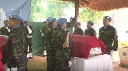 La Minusca rend hommage aux trois casques bleus marocains tués en Centrafrique