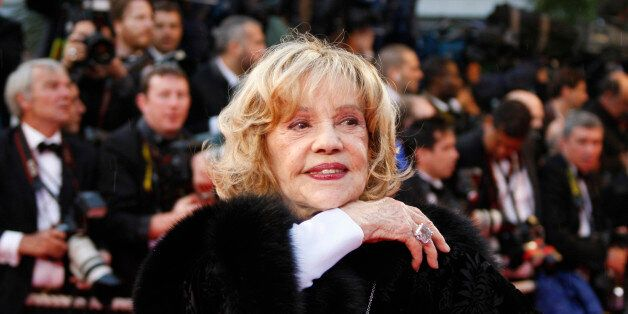 French actress Jeanne Moreau arrives for the screening of the